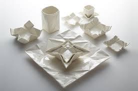 geschirr design catch of the day moij design lässt origami zu porzellan