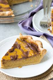 favorite thanksgiving food swirled chocolate pumpkin pie giveaway kristine u0027s kitchen