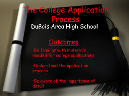 the college application process dubois area high outcomes
