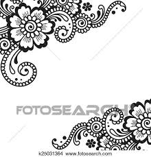 clipart of flower vector ornament corner k25031364 search clip