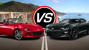 mazda eeuu 2016 mazda mx 5 miata vs chevy camaro ss spec comparison youtube