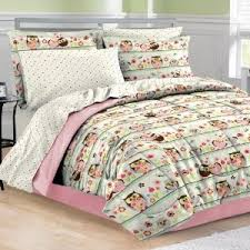 Owl Bedding For Girls by 6pc Pink Green Flower Bird Owl Nature Polka Dot Twin