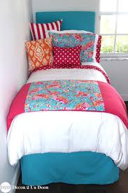 lilly pulitzer dorm room bedding lilly flamingo blue pink orange designer dorm bedding set