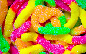 wallpaper 4k color sweet jelly worms hd colored wallpaper