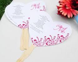 wedding program fans kit diy heart fan program paper kit printable hearts hand fans and