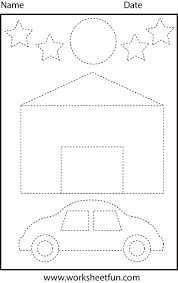 Free Printable Shapes Worksheets 96 Best Tracing Worksheets Images On Pinterest Tracing
