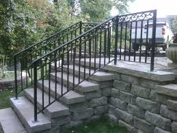 outdoor long wrought iron stair railing outdoor wrought iron