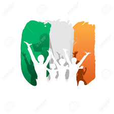 Chicago Irish Flag Constitution Day And Independence Day In Ireland Happy People