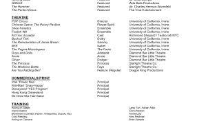 resume stunning actors resumes acting resume sample free fax