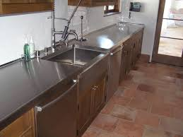 stainless steel countertop with built in sink crown steel mfg stainless steel copper steel zinc countertops