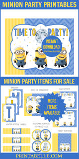 minion party printables u2013 printables kids parties u0026 games