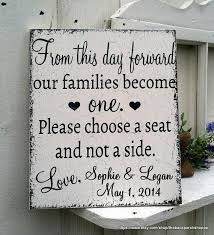 wedding plaques personalized custom personalized from this day forward no seating plan