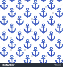 anchor wrapping paper watercolor anchor pattern design wrapping paper stock vector