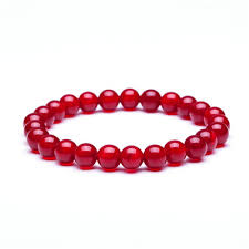 red stone bracelet images Red beads natural stone fashion accessories jpg