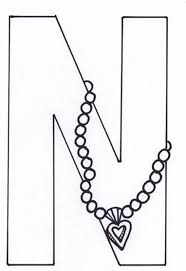 coloring pages for letter n many interesting cliparts