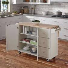White Kitchen Cart Island Kitchen Carts Carts Islands Utility Tables The Home Depot
