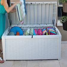 keter borneo 110 gallon storage deck box in white u2013 farm u0026 garden