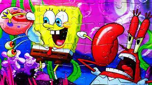 spongebob squarepants puzzle games nickelodeon jigsaw puzzles gary