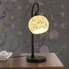 elegant mosaic type joint glass shade bedside table lamps