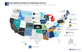 Map Of United States And Capitals by The United States Of Venture Capital The Most Active Vc In Each State