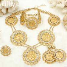 big necklace sets images Italy fashion dubai gold coin big jewelry sets charms long chain jpg
