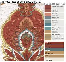 214 west jesse velvet 3 piece quilt set by node paint colors