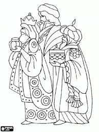 Melchior Caspar And Balthasar In Their Worship To Jesus Child Wise Worship Coloring Page