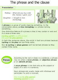 good grammar grade 7 grammar lesson 11 the phrase and the clause