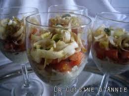 cuisine verrine recette verrines d endives au roquefort et aux noix la cuisine