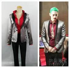Joker Costume Halloween Squad Jared Leto Batman Joker Cosplay Costume Halloween