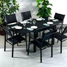 6 seater outdoor dining table modern black 6 seater extending garden furniture glass top outdoor