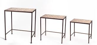 3 piece nesting tables melrose intl 3 piece nesting tables reviews wayfair