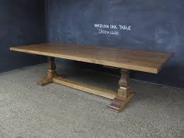 american oak timber table pedestal base christian cole furniture