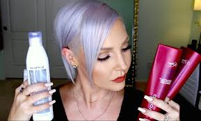 silver blonde color hair toner how to get maintain silver gray lavender hair olaplex