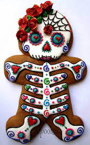 dia de los muertos day of the dead gingerbread woman decorated