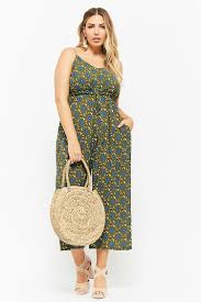 plus jumpsuit plus size floral drawstring jumpsuit forever 21 plus 2000277626
