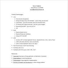 Java Programmer Resume Sample by Programmer Resume Template U2013 11 Free Word Excel Pdf Format