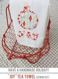 joy tea towel sewing diy skip to my lou