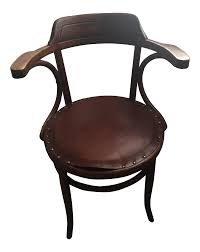 vintage leather upholstered bentwood chair in the style of michael