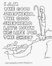 am the good shepherd free bible verse coloring page inside jesus