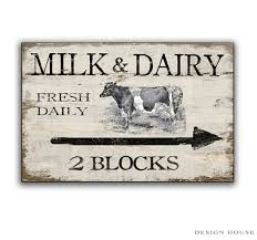 milk and dairy wooden sign handmade farm signs country signs