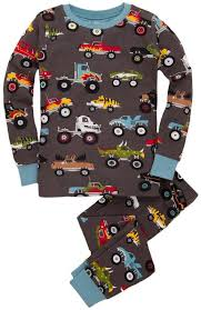 hatley monster truck pajamas comfortable sleepwear pajamas