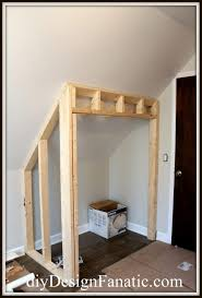 Slanted Wall Bedroom Closet Interiors Cozy Building A Closet Ideas How To Build A Installing