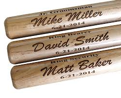 personalized kitchen items custom personalized mini baseball bat ring bearer