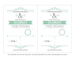 template diy free wedding invitation template mountainmodernlife