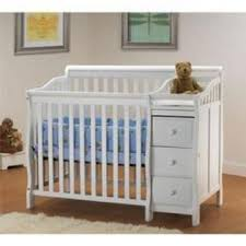 Mini Crib Size Orbelle The Mini Crib Portable Size Converts To A Toddler Bed White