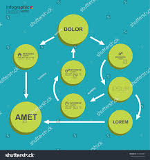corporate organization chart template round elements stock vector corporate organization chart template with round elements flat design algorithm of action and choice