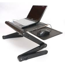 Recliner Laptop Desk Light Yet Strong Folding Recliner Laptop Table With Big Fan And