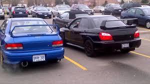 1999 Subaru Impreza Wrx Vs 2004 Subaru Impreza Wrx Sti Youtube