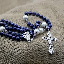 purple rosary purple south sea pearl rosary heavenlybound